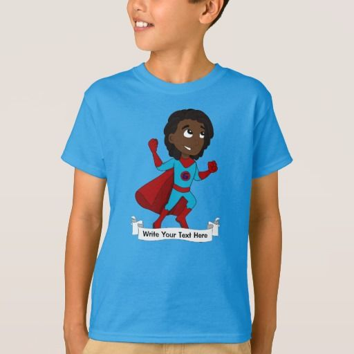 Custom superhero boy cartoon T-Shirt