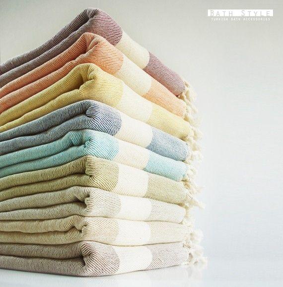 Bathstyle Turkish BATH Towel Peshtemal and Peshkir by bathstyle, $49.50: Bathroom Design, Turkish Towels, Towels Peshtem, Bathroom Spacesav, Bath Towels, Colors Schemes, Turkish Bath, Hands Towels, Bathstyl Turkish