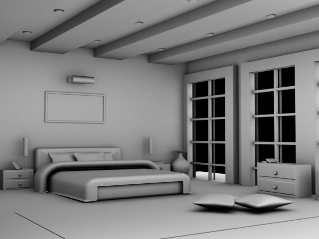 Bedroom (Occlusion render)