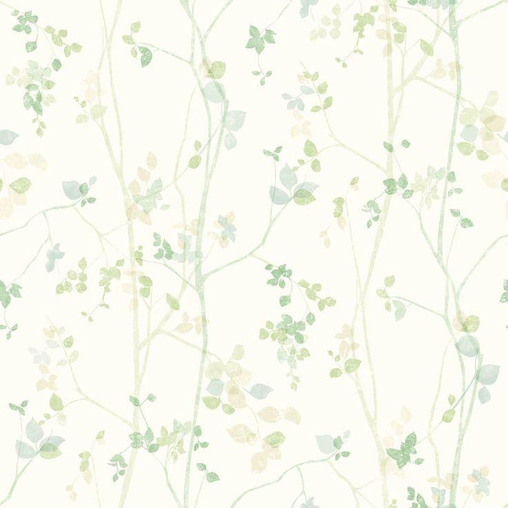 tienda online telas & papel | Papel ramitas primavera verde