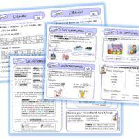 Leçons de vocabulaire alphabet, synonymes, homonymes, contraires