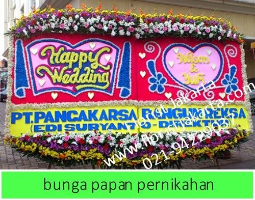 Bunga Papan Pernikahan PU Jl Patimura  Saat ini bunga telah menjadi pilihan bagi sebagian besar untuk mengungkap ucapan selamat baik suka ci...