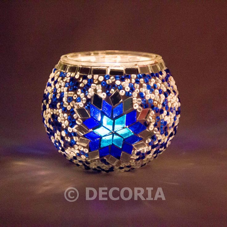 Candle Holder - Blue - DECORIA HOME & GIFT