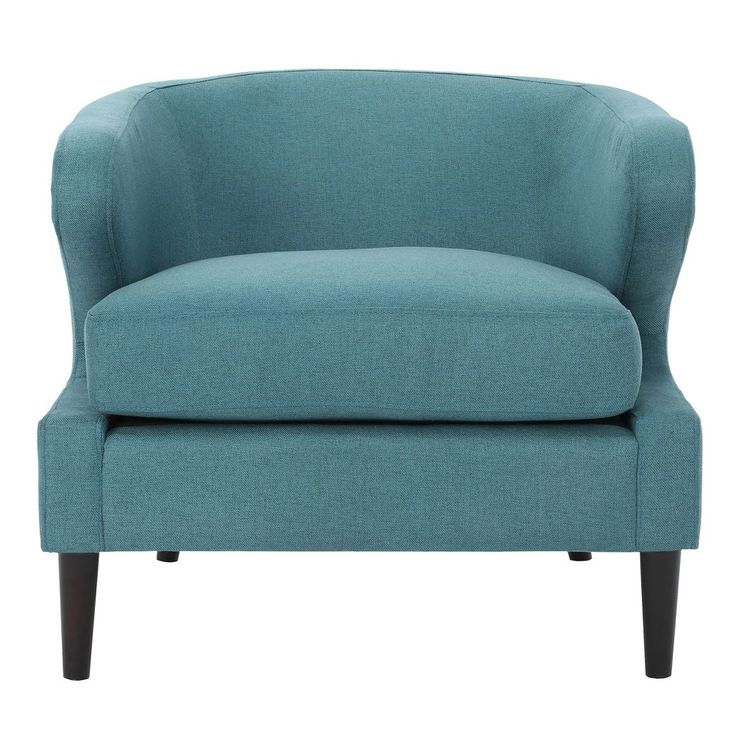 Best Delgado Upholstered Accent Chair Dark Teal Christopher 400 x 300