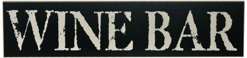 Chick Lingo 6401BL Wine Bar Decorative Sign by Chick Lingo. $10.26. Decorative sign 24-inch x 6-inch. Handcrafted in the usa. Black background with linen writing. This beautiful 24-inch sign is handcrafted in the USA by a team of very creative and fun artisans in the Northwest.  The Painted Word brand of signs and frames has built up a reputation of creating beautiful products with exceptional quality that are used to proudly display in your home. This sign can either sit uprig...
