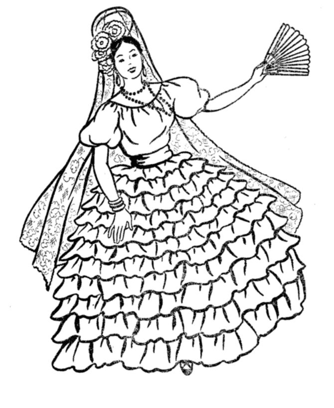 mexican flowers coloring pages - photo#35