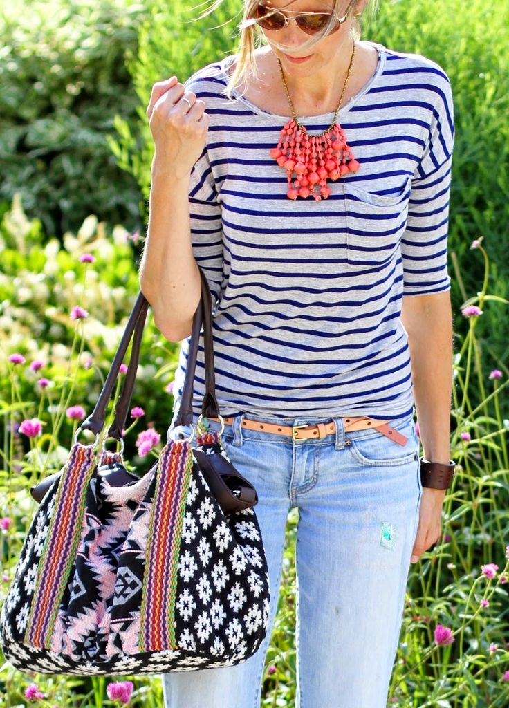Stripes + @31bits + Noonday Collection Casual weekend