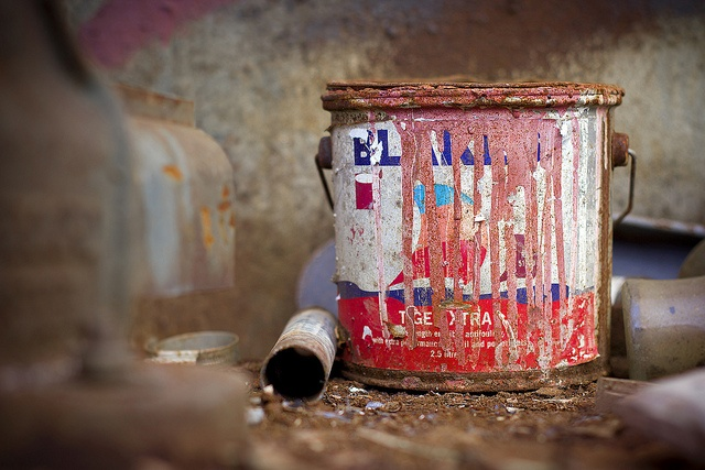 Rusty Paint Can by Cormac Scanlan #urbandecay #photography