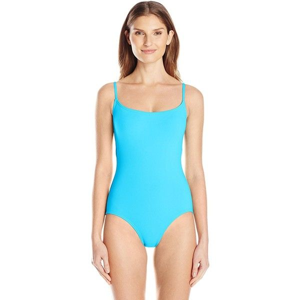 Anne Cole Women's Classic Maillot Solid One Piece Swimsuit ($30) ❤ liked on Polyvore featuring swimwear, one-piece swimsuits, one piece maillot swimsuits, anne cole swimwear, tank swimsuit, tank suit and anne cole one piece swimsuit