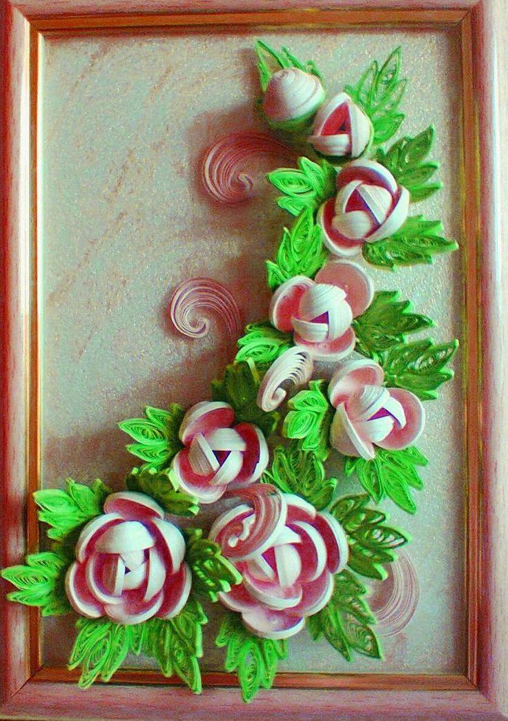 Квиллинг Розы Quilling Flowerspaper