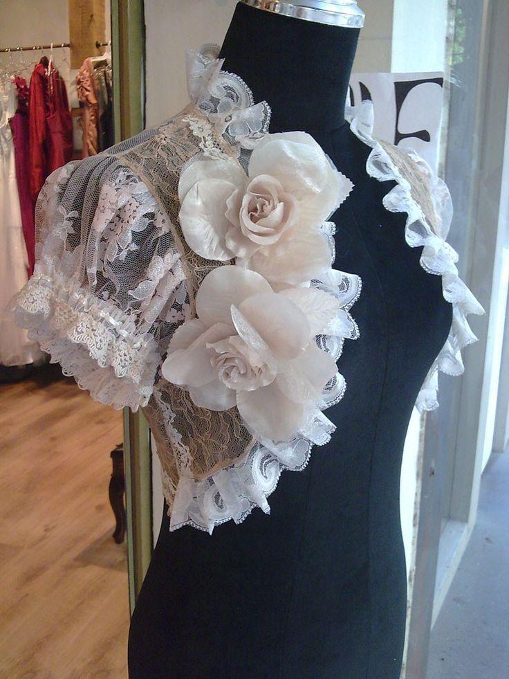 Renaissance summer colors bridal bolero jacket victorian bolero wedding shrug wedding jacket wedding bolero. $79.90, via Etsy.