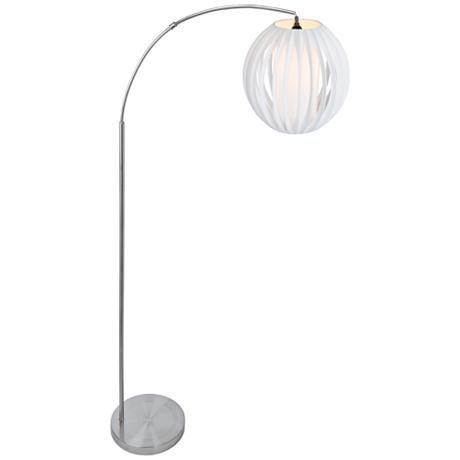 Lite Source Deion Brushed Nickel Arc Floor Lamp