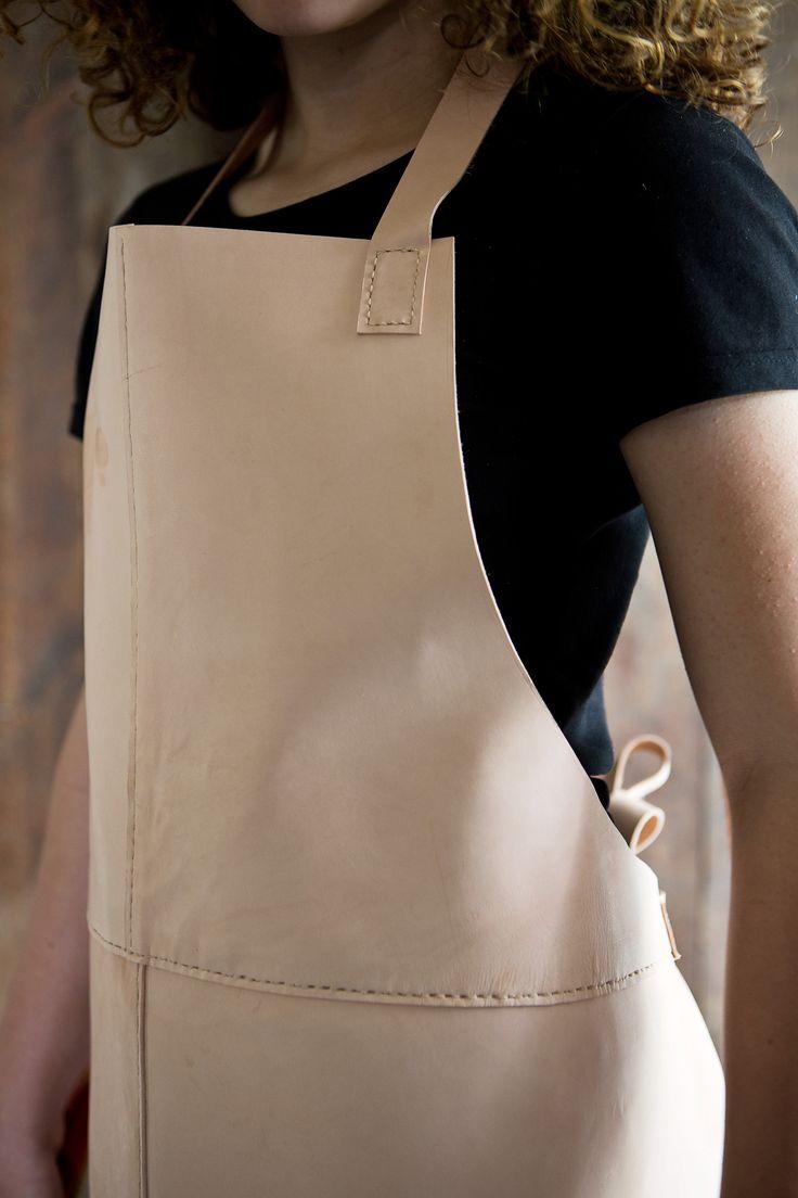 Skinnförkläde-DIY-Detaljer