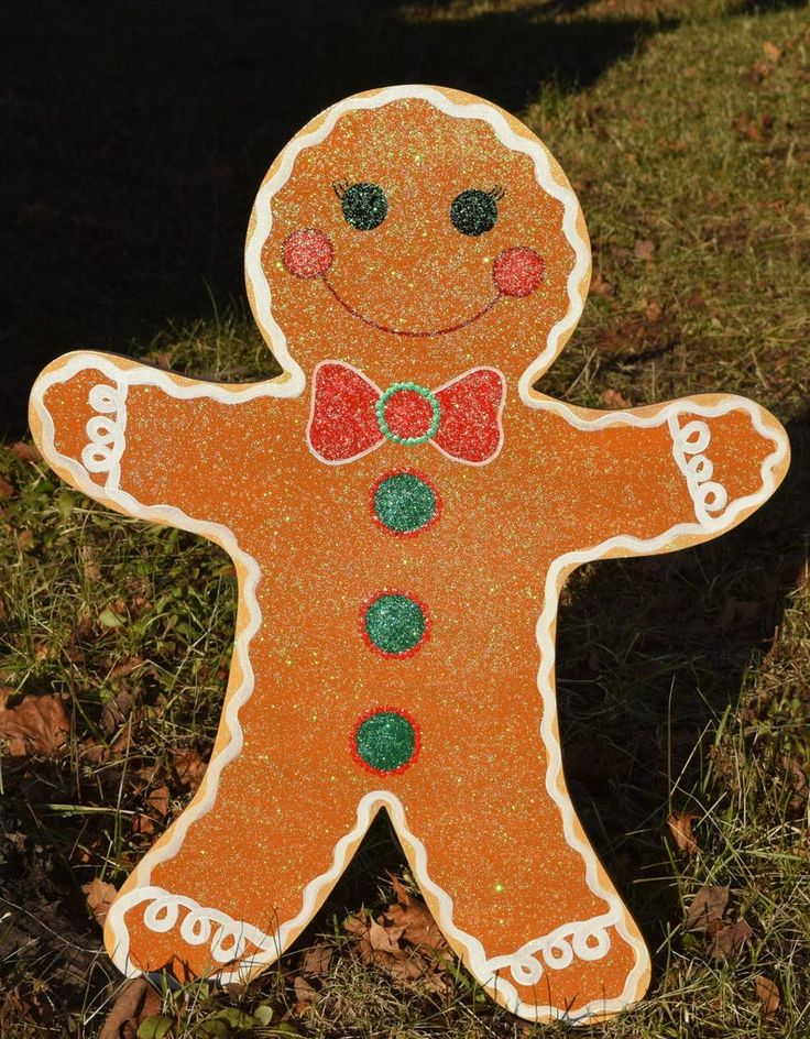 Gingerbread Man Yard Stakes Gingerbread People Yard Etsy