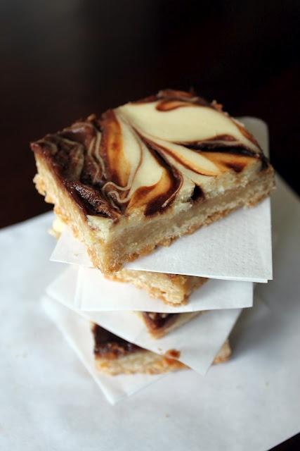 nutella/caramel swirled cheesecake