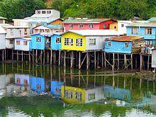 Palafitos en Castro ,Chiloe