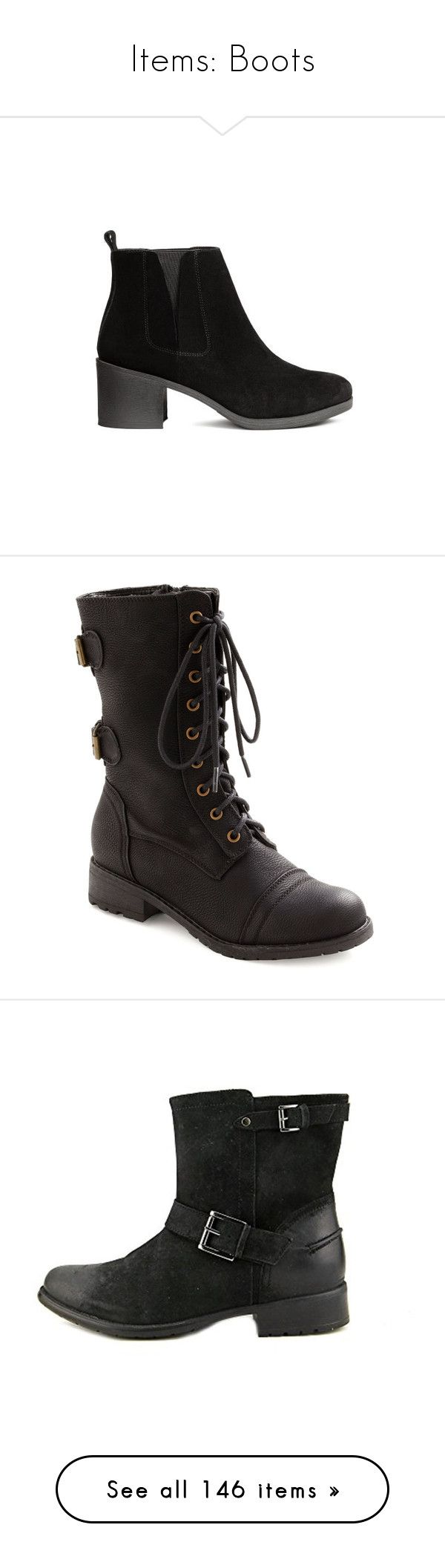 """Items: Boots"" by jess-nichole ❤ liked on Polyvore featuring shoes, boots, h&m shoes, h&m boots, combat boots, black, flat boots, boot - bootie, black lace up boots and military boots"