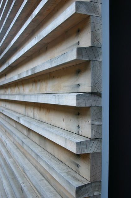 Wood on façade.