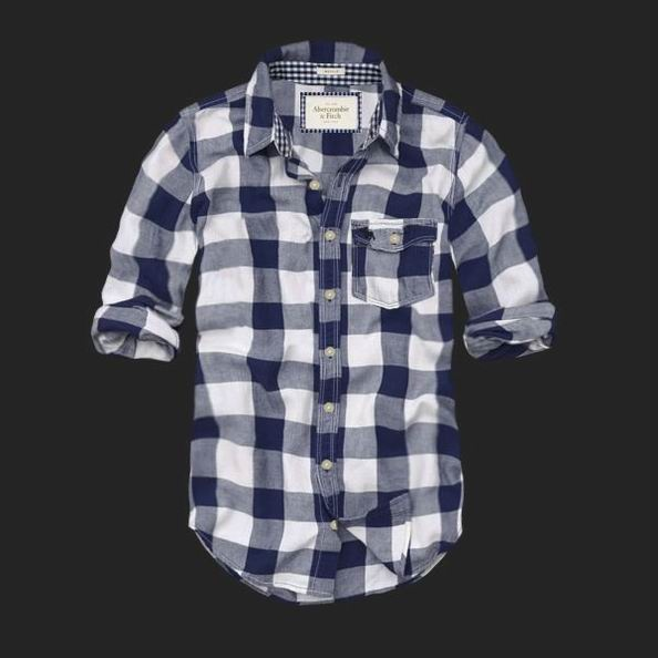 Abercrombie and Fitch Men Plaid Shirt
