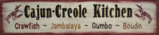 Cajun Creole Kitchen Crawfish Fence Board Primitive Rustic Sign Home Decor by SouthernHomeSigns on Etsy