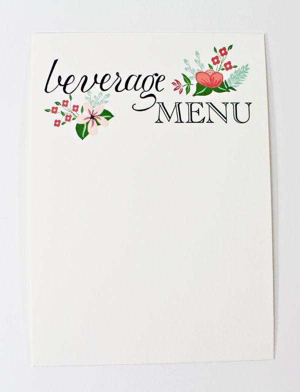 Handdrawn Wedding Printables by Behold Designz