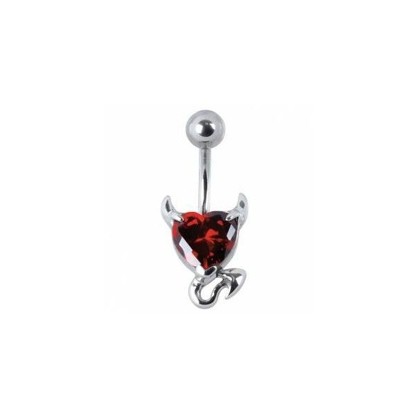 WILDCAT | DEVILHEART | NAVELPIERCING | Piercing Sieraden | roestvrij... ($15) ❤ liked on Polyvore featuring piercing and jewelry
