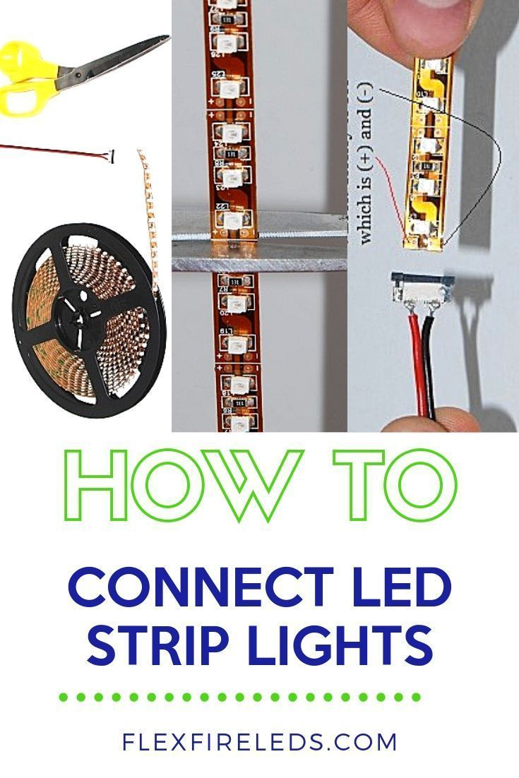 How To Connect Led Strip Lights It S Rare You Find Led Strip Lights In The Exact Size You Need For Your Applicat Led Strip Lighting Strip Lighting Led Lights