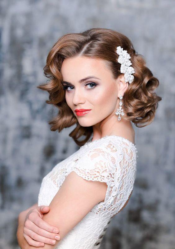 26 kurze Hochzeitsfrisuren und Möglichkeiten, sie auszustatten: kurze …   – Beauty hacks