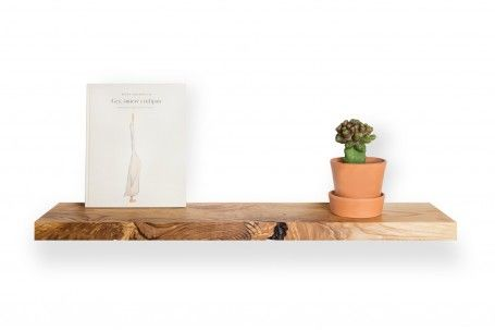 A simple shelf with a spectacular expression. Made of one piece of ash wood.