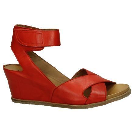 Miz Mooz Liberty Rode Sandalen met Sleehak