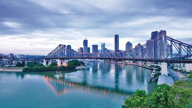 Rising tide: the Brisbane River and city skyline. #Brisbane #Australia