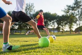 Children should play soccer solely for exercise and fun at young ages. Once they reach about 9 or 10 years old, they can begin to focus on the technical aspects of the game. Soccer drills help children improve their soccer skills and can help catapult players into higher levels of play as they mature.