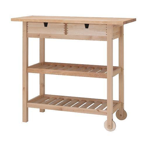 IKEA - FÖRHÖJA, Roltafel, Voor extra opberg-, afzet- en werkruimte.De lades zijn vanaf twee kanten uittrekbaar en dat maakt de inhoud overzichtelijk en makkelijk bereikbaar.Open, makkelijk bereikbare opberger met plaats voor 9 flessen op elke plank.