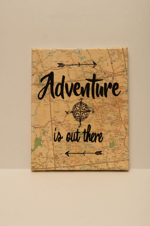 Map Canvas Adventure is out there by ChristysCreations411 on Etsy