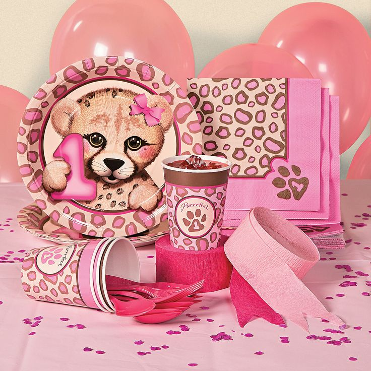 1st Birthday Cheetah Party Supplies - OrientalTrading.com