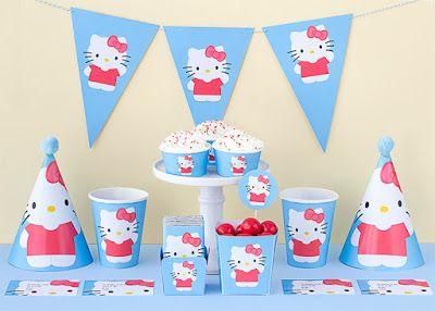 NEŞELİ SÜS EVİM: Hello Kitty Ücretsiz Parti Seti