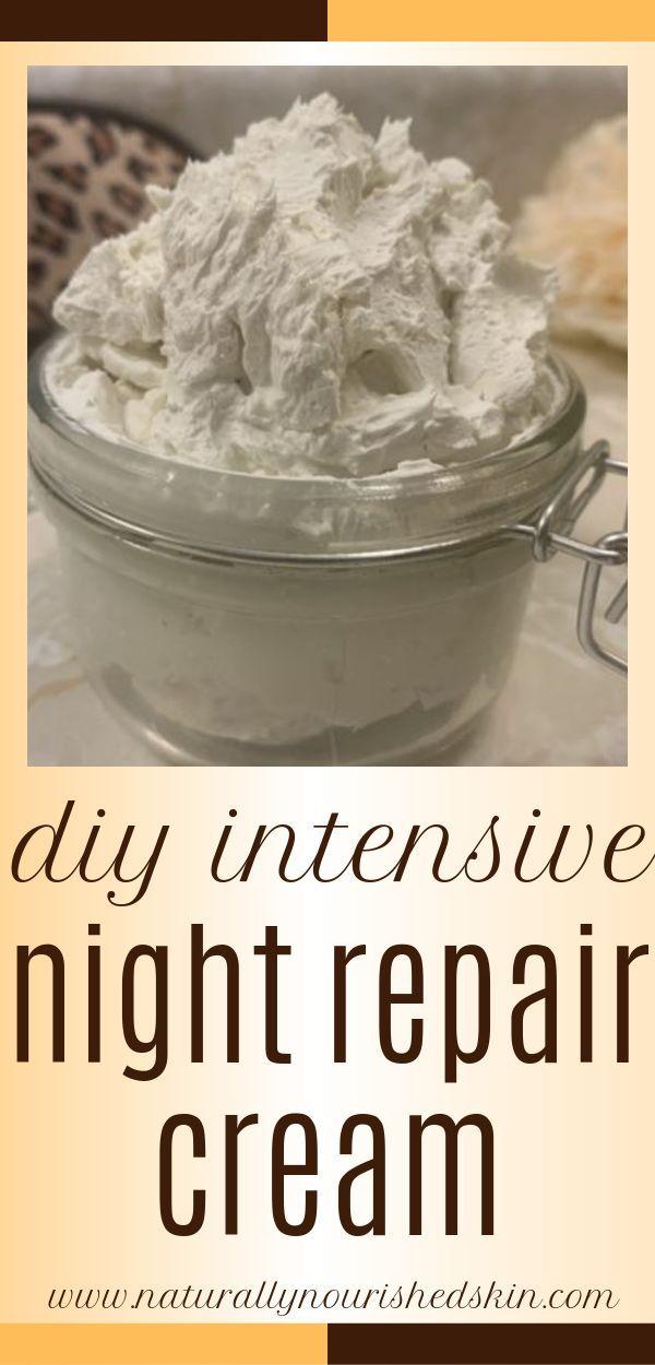 Diese DIY Intensivcreme pflegt und repariert im Schlaf! #diynightcream # … – Anti Aging Skin Care Recipes