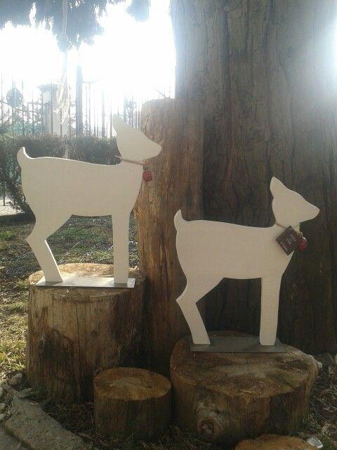 Bambi in legno di recupero. Fatto a mano