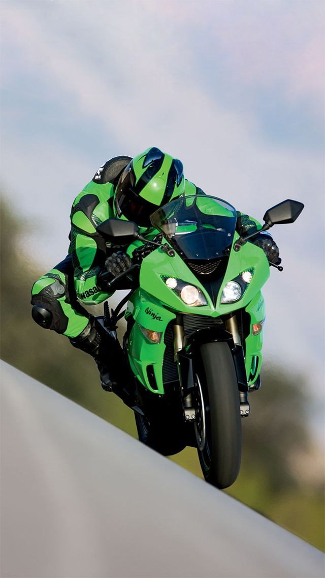 Kawasaki ninja - Green Machine Kawasaki motorcycle http://www.route3amotorsports.com/index.htm