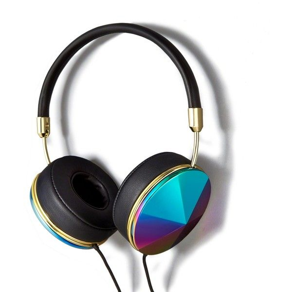 Abercrombie & Fitch Frends Taylor Oil Slick Headphones found on Polyvore