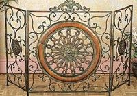 fireplacedesign.info - decorative fireplace screen ideas, Decorative fireplace screens, decorative fireplace screens for gas fireplaces, decorative fireplace screens iron, decorative fireplace screens lowes, decorative fireplace screens painted, decorative fireplace screens with candles, decorative fireplace screens wrought iron Mediterranean Antiqued Metal Fireplace Screen