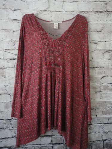 American-Rag-3X-Womens-Plus-Size-Top-Boho-Chic
