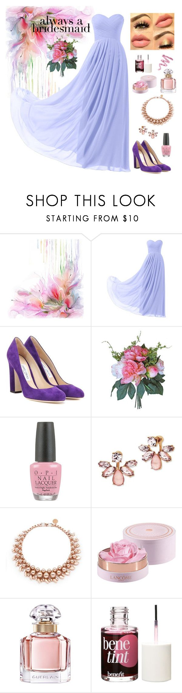 """Perfect bridesmaid"" by lanagur on Polyvore featuring мода, Remedios, Jimmy Choo, OPI, Marchesa, Ellen Conde, Lancôme, Guerlain, Benefit и Cynthia Rowley"