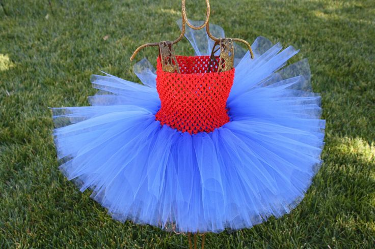 EASTER SALE SAVE 15% Super Girl Tutu, blue skirt, blue tulle skirt, red and blue tutu, supergirl, superman tutu, blue and red skirt by CoutureTutusForYou on Etsy