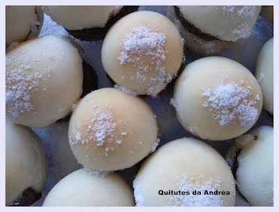 QUITUTES DA ANDRÉA: MINI SONHOS RECHEADOS COM BRIGADEIRO
