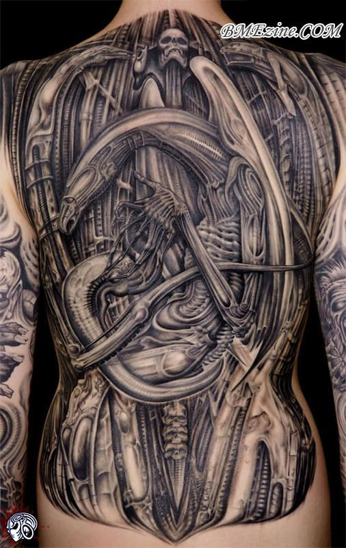 45 best H.R. Giger Tattoo Art images on Pinterest | Tattoo ... H.r. Giger Tattoo