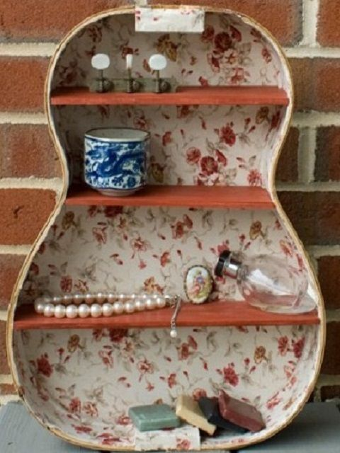 How to make a guitar shelf? -Refurbished Ideas