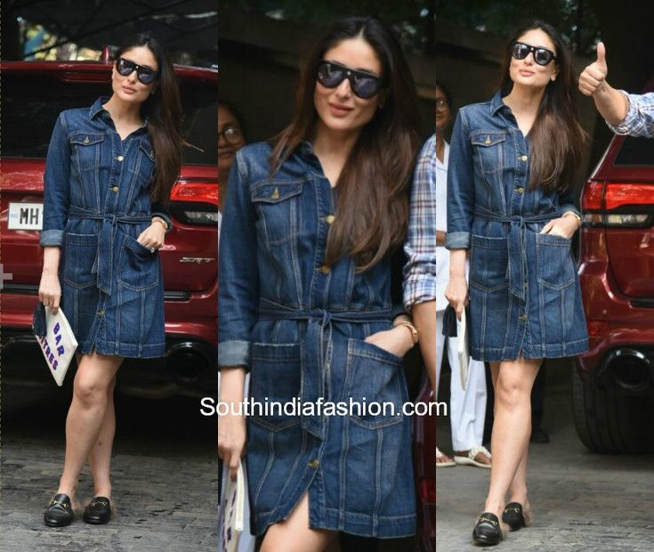 Kareena Kapoor with Saif Ali Khan & Taimur Ali Khan   Kareena Kapoor Khan was snapped for Christmas brunch with husband Saif Ali Khan and baby Taimur Ali Khan. Kareena Kapoor wore a denim blue dress with a pair of Gucci fur loafers.  Wheras baby Taimur looked super cute in Christmas-y clothes.  The family looked lovely in denim blues.  The post Kareena Kapoor with Saif Ali Khan & Taimur Ali Khan appeared first on South India Fashion.  from South India Fashion…
