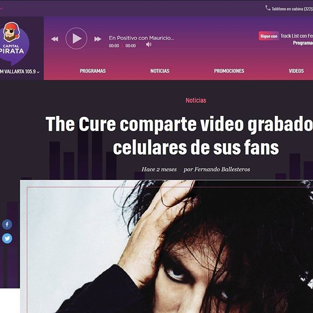 """The Cure comparte video grabado con celulares de sus fans"" via capitalpirata.mx #TheCure #Lodz #Multicam #free #fan #film #project #rock #pop #indie #goth #alternative #postpunk #80s #90s #music #video #instamusic #concert #live #mexican #press #portal #article #spanish #radiostation #mexico @robertsmith @thecure @martinmarszalek"
