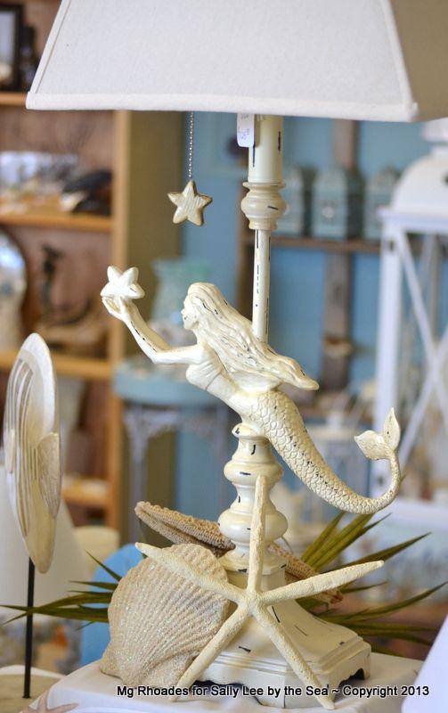 mermaid coastal beach house lamp - Mermaid Home Decor
